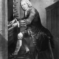 Bach-1725-at the Organ