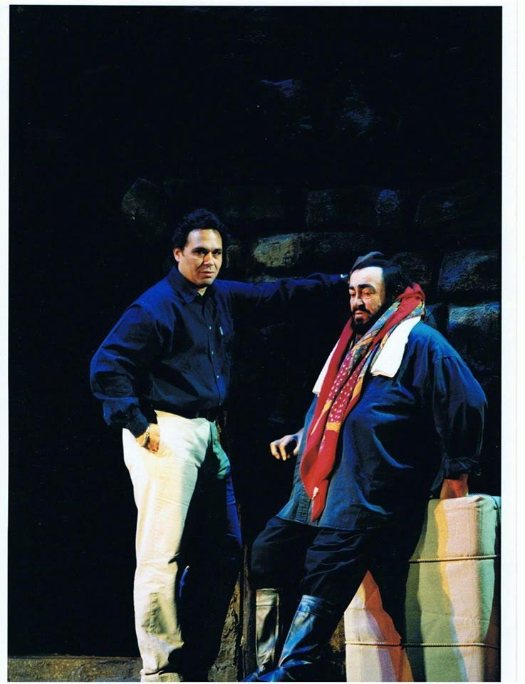 with Luciano Pavarotti
