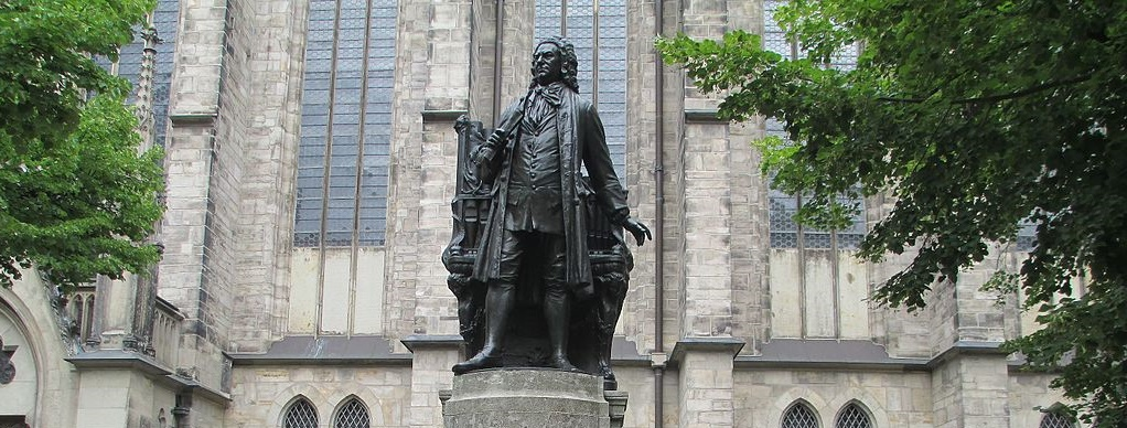 Statue of J.S.Bach at St. Thomas church, Leipzig