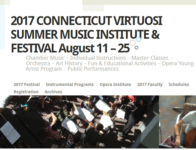 2017 SUMMER MUSIC INSTITUTE & FESTIVAL Aug. 11 – 25